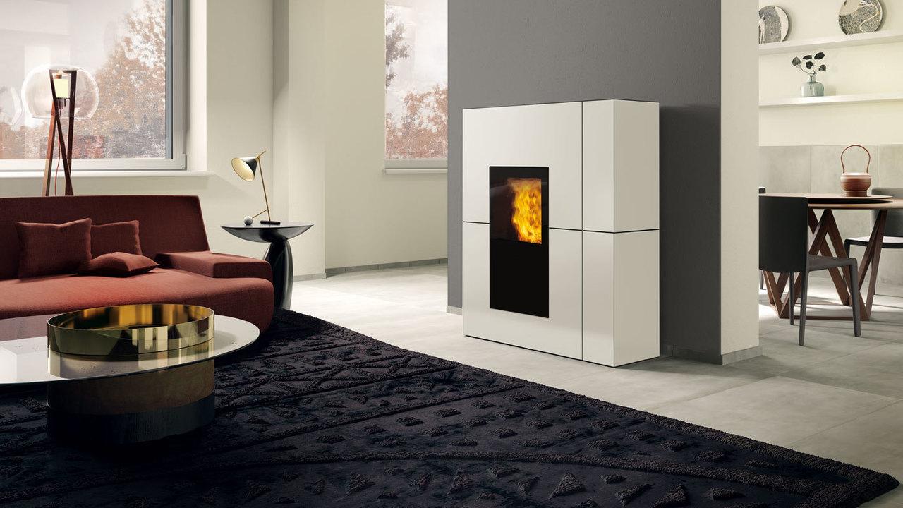 caminetti stufe a pellet e legna edilkamin, termocamini termostufe